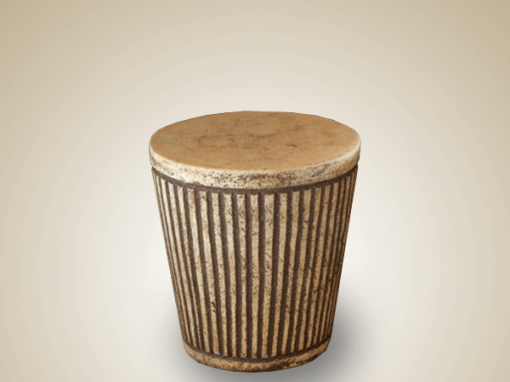 STOOL ROUND STRIPE LARGE