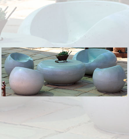 Bubble Chair & Ball Chair with Table