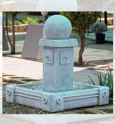 Water Feature Square Pillr + Cornaro Dam