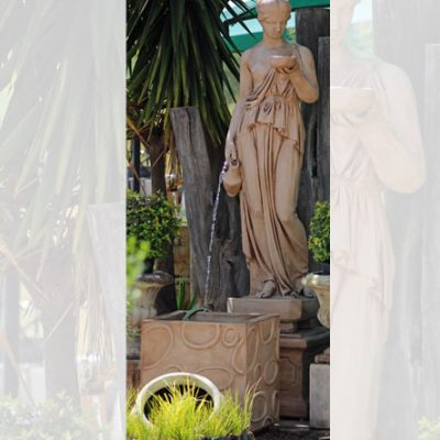 Water Feature Statue Ebe with Pot